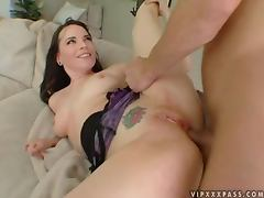 Passionate Dana DeArmond gets a mouthful after rough sex