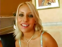 Sexy Blonde Candy Eat Cum After Great Fuck