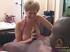 Tracy Licks Takes MrNuttz's 9 inch large darksome rod