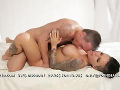 Flawless brunette tattooed babe Christy Mack banged
