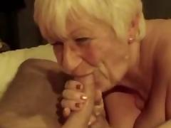Granny playing with icecube