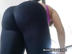Girl In Yoga Pants Stripping