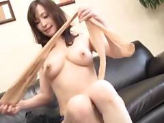 sensual nippon mature takes off her clothes