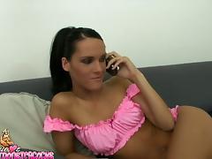Pinky babe Jennifer Dark is rocking in the POV