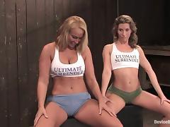 Ariel X and Mellanie Monroe enjoy being bound in a hot BDSM scene