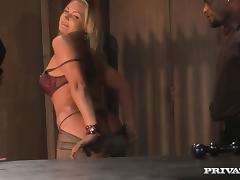 Naughty Flower Tucci gets tied up and ass fucked by Black man