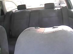 Lavish cumshotvoyeured on the taxi back seat
