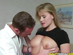 Stunning Lea fucks a dude in a bedroom and drinks his cum