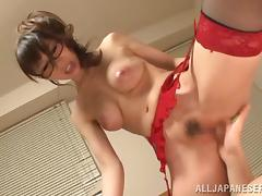Meisa Chibana gets her Japanese snatch fucked in all known positions