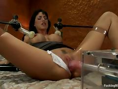 Gia Dimarco Getting Her Snatch Drilled Repeatedly by Machine