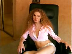 Ginger With Long Curly Hair Sucks Big Black Cock
