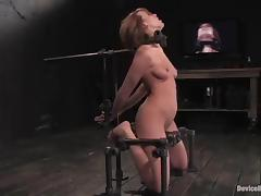 Dana Dearmond gets mouth-fucked by Maestro while being in irons