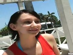 Tattooed Pierced Babe with Huge Tits Takes Two Cocks on a Yacht
