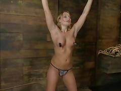 Aurora Snow gets covered with hot wax and humiliated