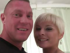 Tattooed Laura Sweet gets banged by muscled guy