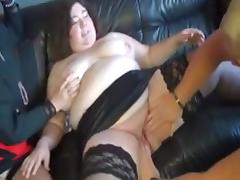 Aged and Big Beautiful Woman 3some