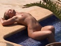 whipped near the pool