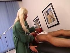 Horny doctor tries out his new nurse Danielle's jugs