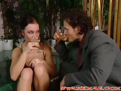 Some drinks and this babe is ready to fuck