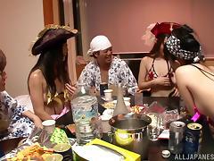 Cute Uta Kohaku And Her Dirty GFs Go Hardcore In A Wild Orgy