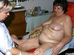 Busty mature slut gets horny