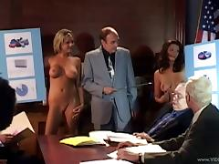 Backstage video with a few cute blondes showing their tits