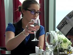 pornstar in glasses and stockings fucked in clothed sex