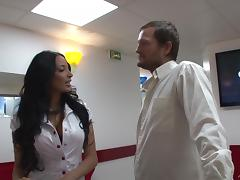 Gorgeous Anissa Kate lets a guy fuck her holes from behind & toy them